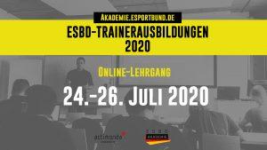 ESBD-Trainerausbildungen - Webinar - 24. Juli bis 26. Juli 2020